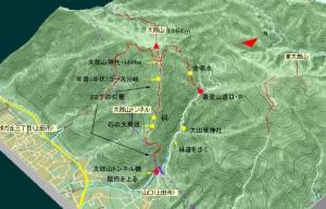 山口から直登するのが表参道ルート